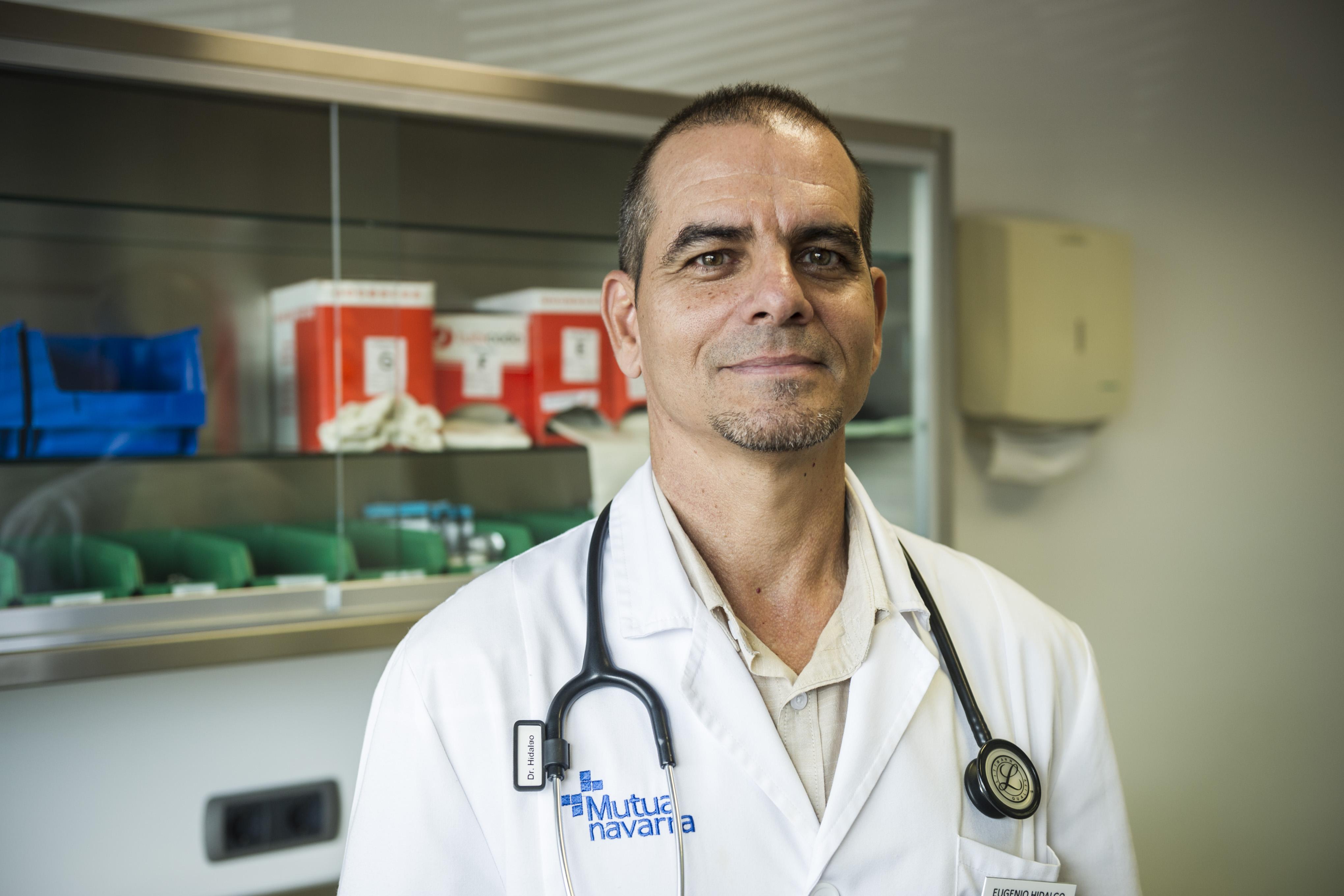 Mutua Navarra. Sede de Landaben, Pamplona. 21.09.2018. Retratos de Eugenio Hidlgo, médico de medicina general en Mutua Navarra.