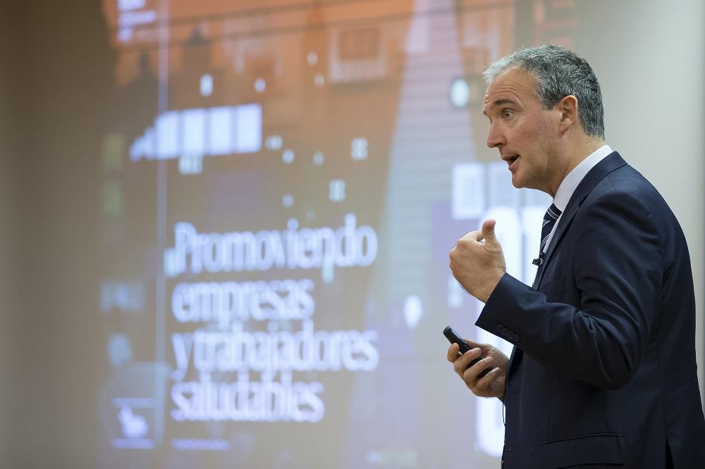 16/10/2018/ Jornada APD, Mutua Navarra. Juan Manuel Gorostiaga, director-gerente de Mutua Navarra. Foto: Jesús Garzaron