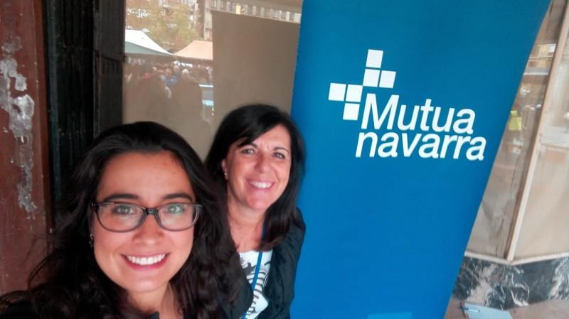 Las Doctoras Mª José Redín Sagredo y Mercedes Donázar colaboradoras de Mutua Navarra