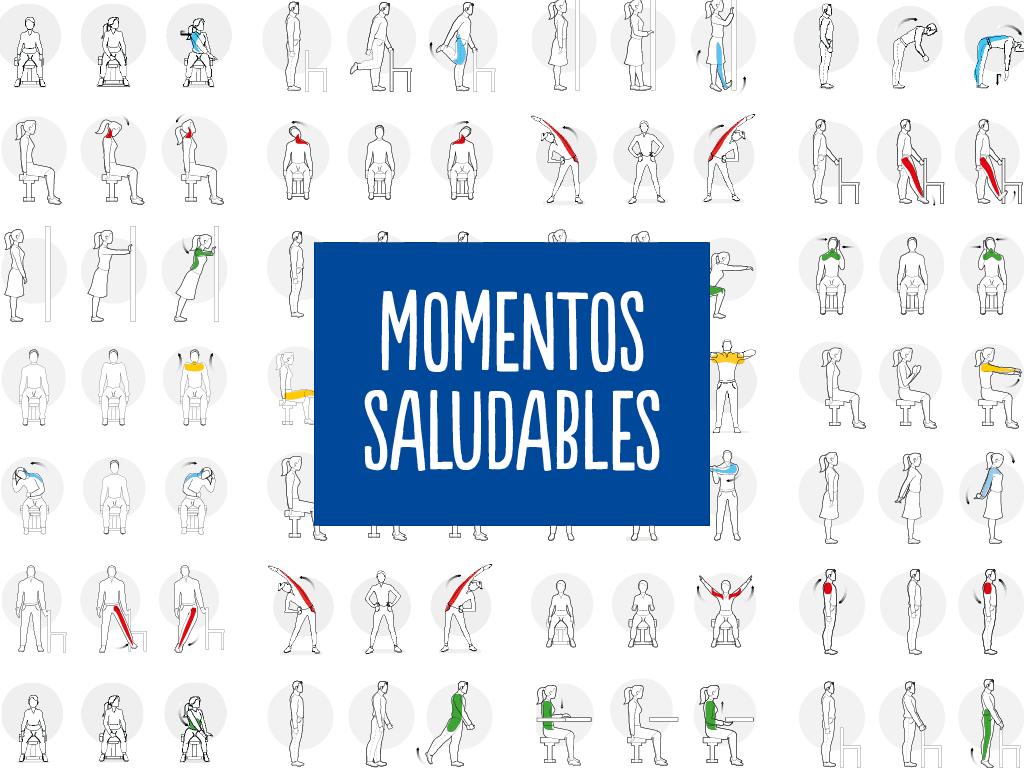 Momentos saludables, diferentes ejercicios para combatir la sobrecarga y fatiga muscular