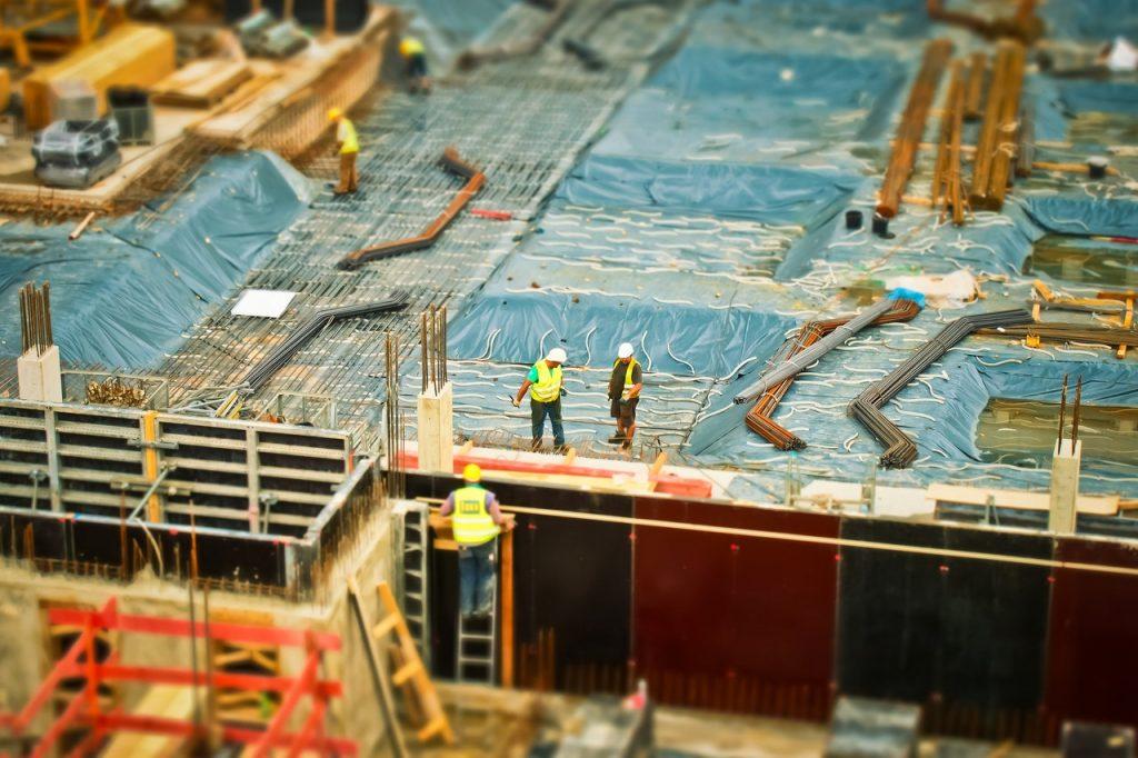 Obreros en una construcción