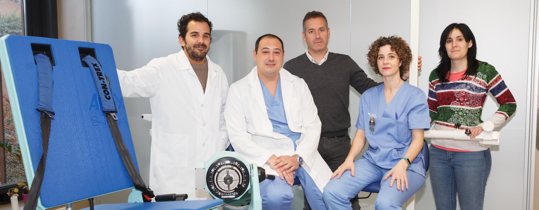 Foto grupal con especialistas de Mutua Navarra