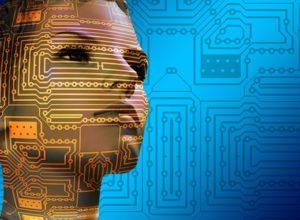 Dos robots, chico y chica que representan como las empresas emplean la Inteligencia Artificial