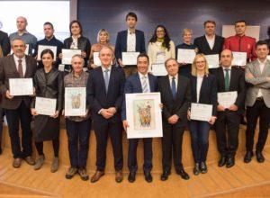 Los premiados en la jornada del XI Premio Azul