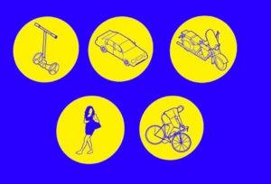 Iconos para la campaña de seguridad vial