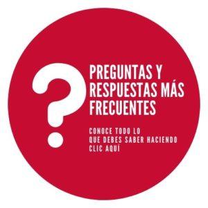 Botón con PREGUNTAS Y RESPUESTAS acerca del coronavirus