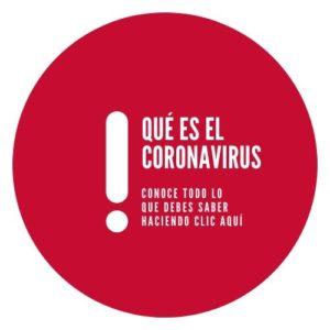Botón con la pregunta: ¿Qué es el coronavirus?