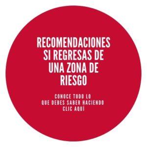 Botón con recomendaciones sobre el coronavirus