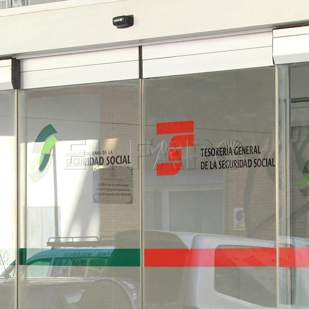 Entrada del edificio de la Seguridad Social