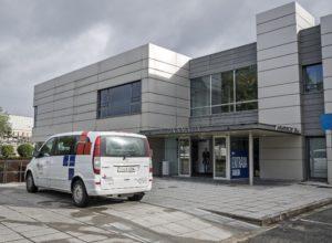 Foto de la entrada a la sede de Pamplona de Mutua Navarra